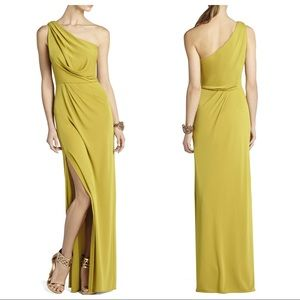 BCBGMAXAZRIA Snejana One-Shoulder Evening Gown